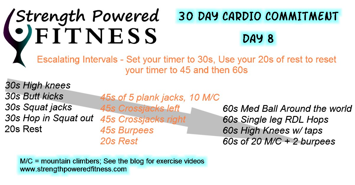 30 Day Cardio Commitement DAY 8