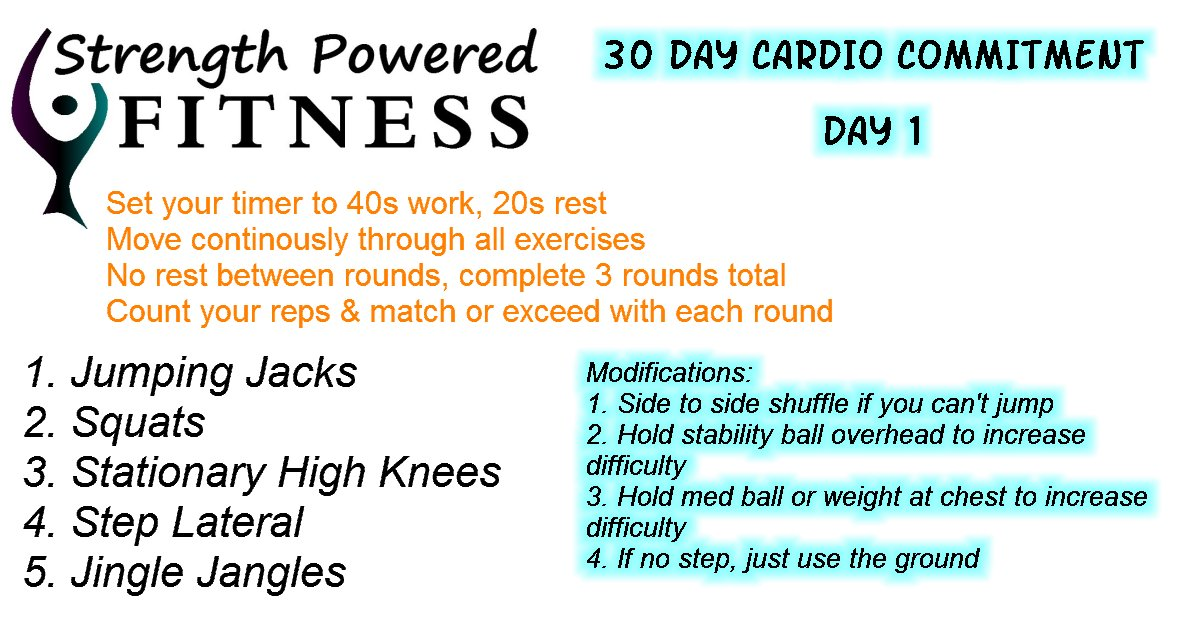 30-Day Cardio Commitment Day 1