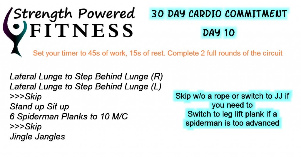 30 Day Cardio Commitment day 10