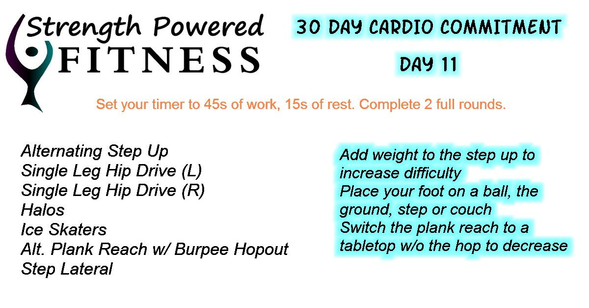 30 Day Cardio Commitment day 11