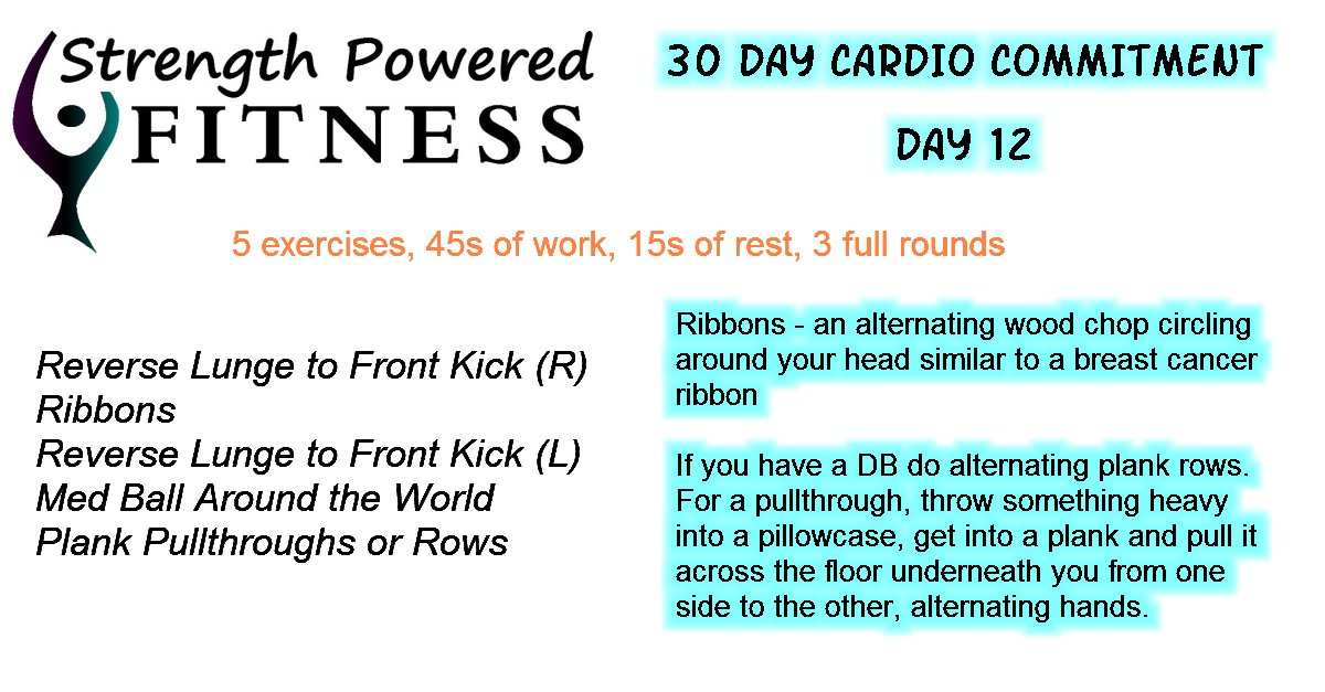 30 day cardio commitment day 12
