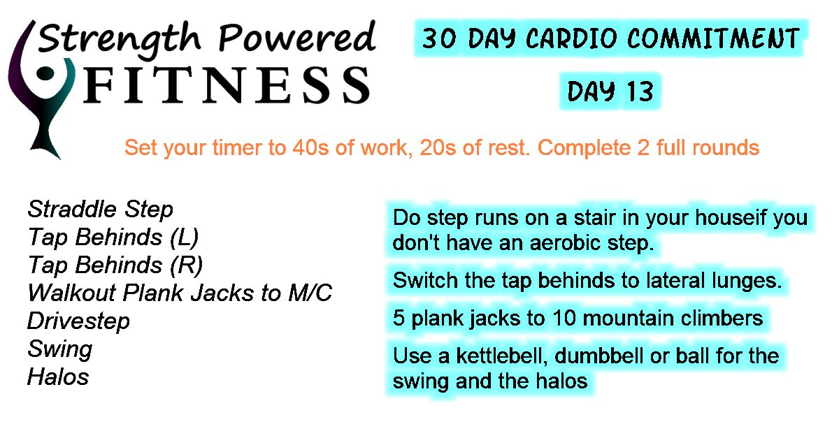 30 Day Cardio Commitment day 13