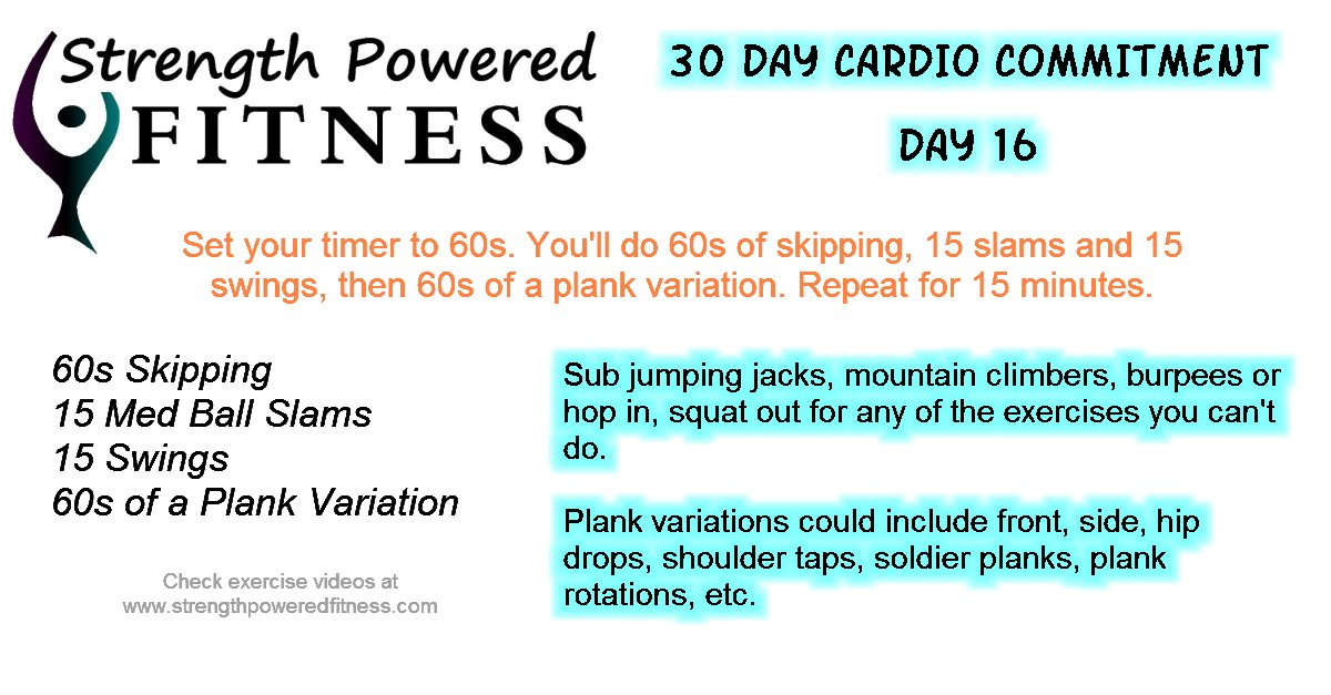 30 Day Cardio Commitment day 16