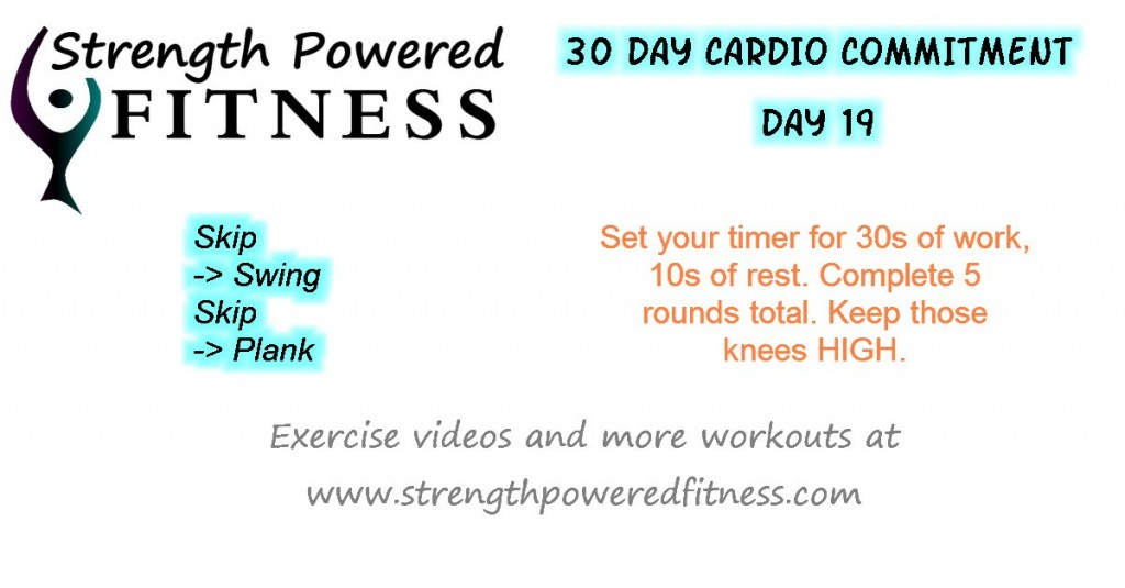 30 day cardio commitment day 19