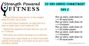 30 Day Cardio Commitment Day 2