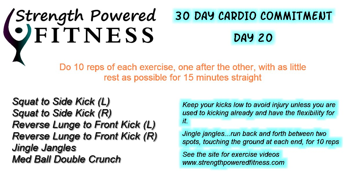 30 Day cardio commitment day 20
