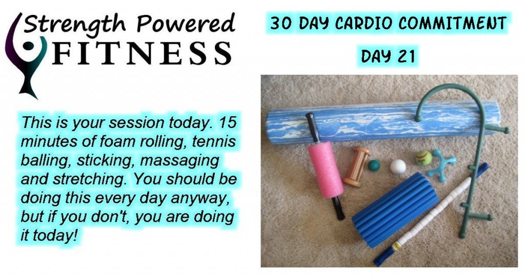 30 Day cardio commitment day 21