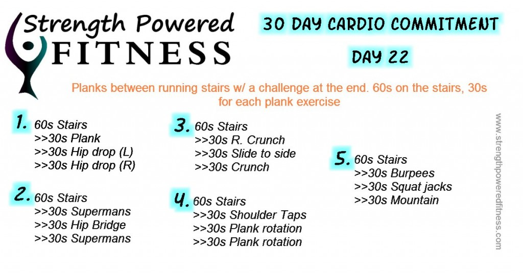 30 day cardio commitment day 22