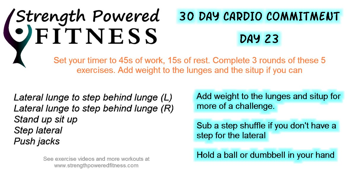 30 Day Cardio Commitment day 23