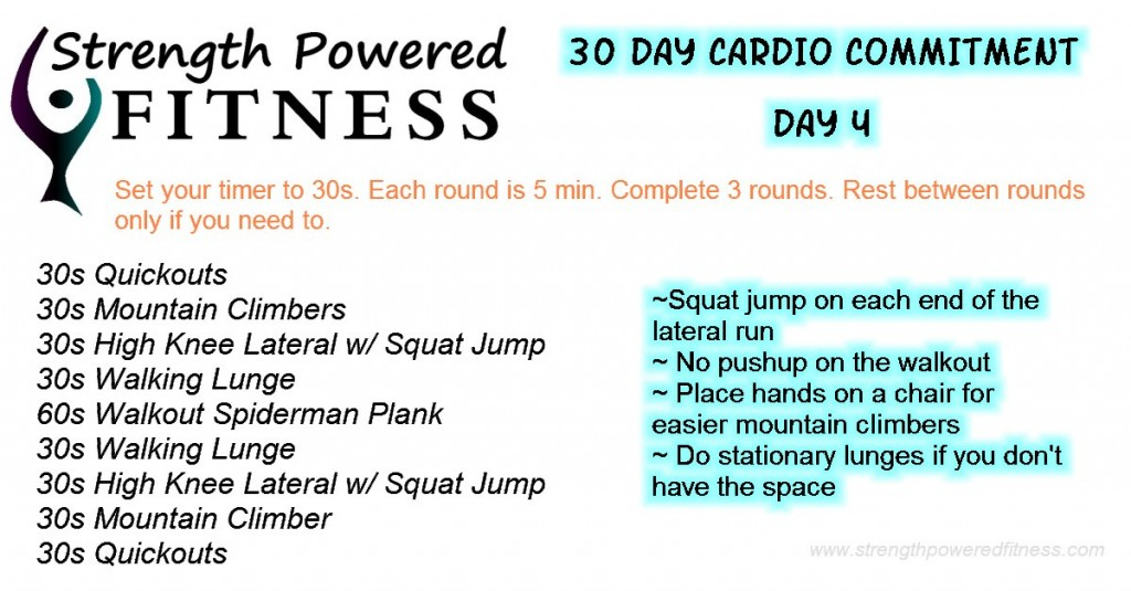 30 Day Cardio Commitment day 4