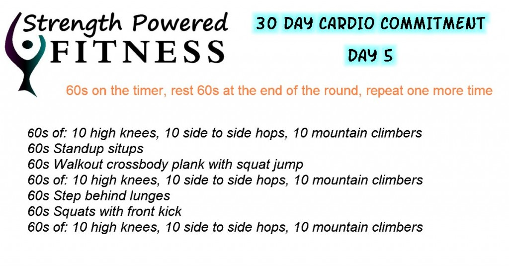 30 Day Cardio Commitment
