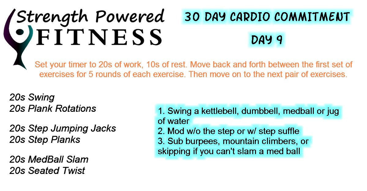 30 day cardio commitment day 9