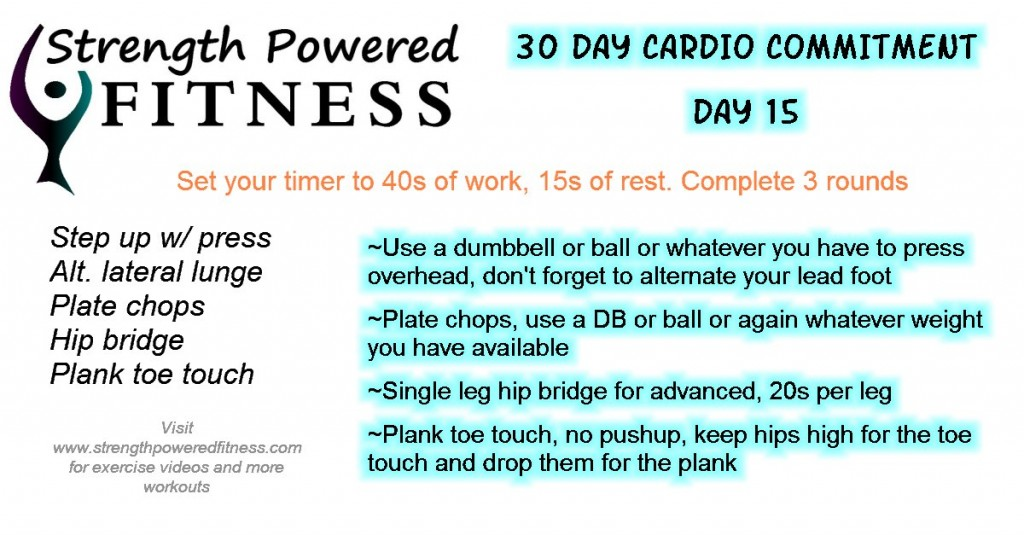 30 Day Cardio Commitment day15