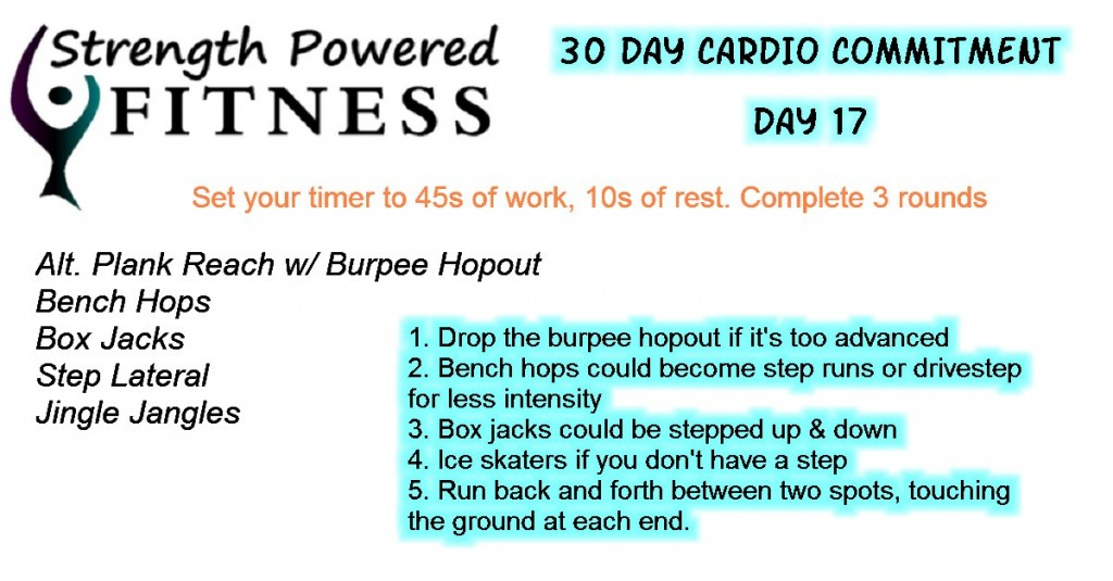 30 Day Cardio Commitment day17