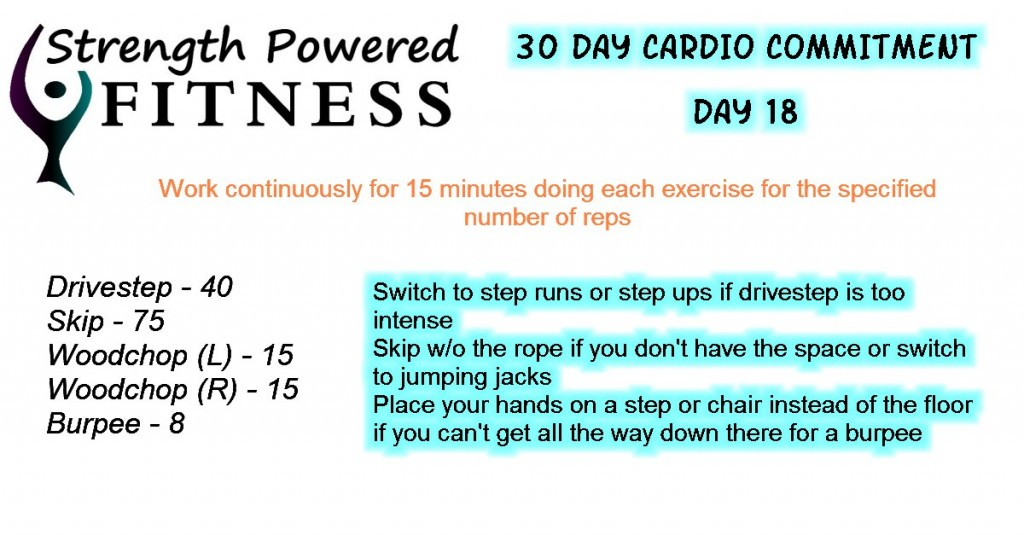 30 day cardio commitment day18