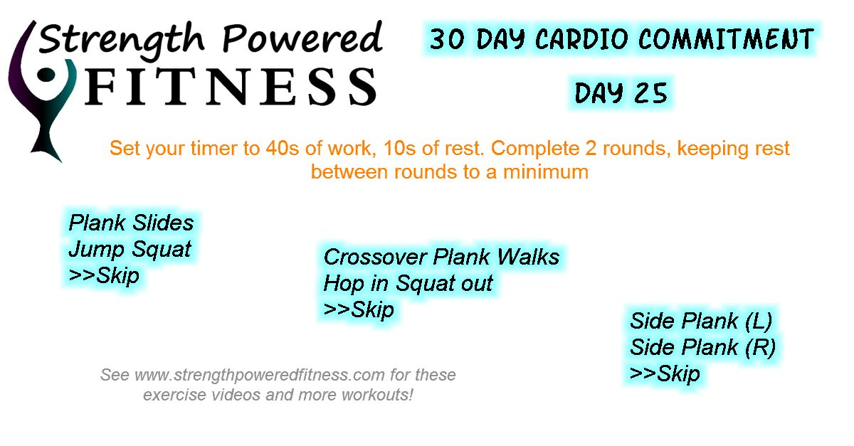 30 Day Cardio Commitment Day 25