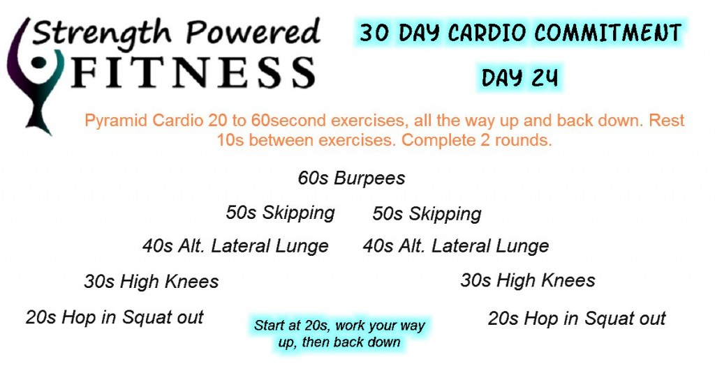 30 Day Cardio Commitment day 24