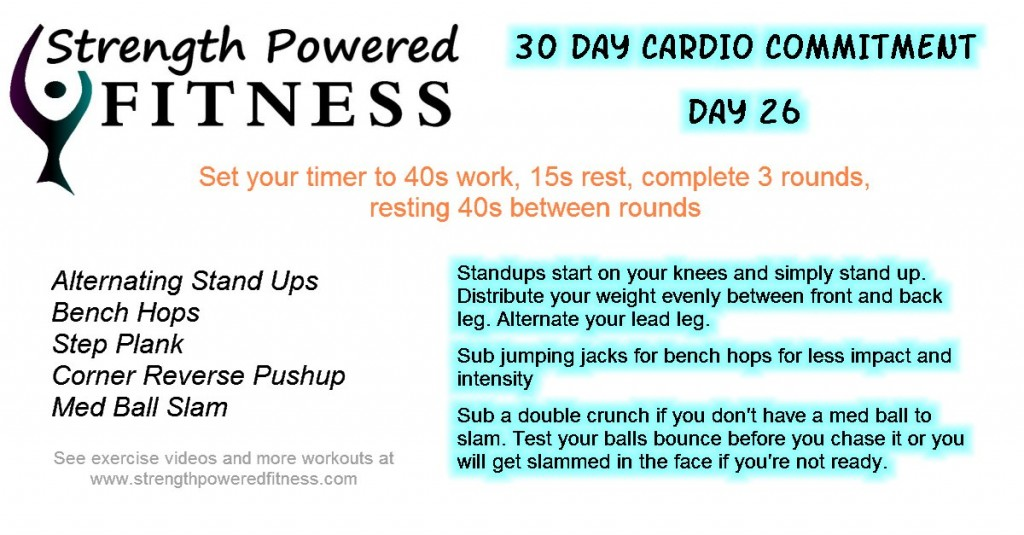 30 Day Cardio Commitment day 26