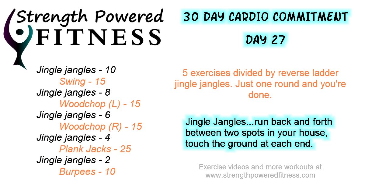 30 cardio commitment day 27
