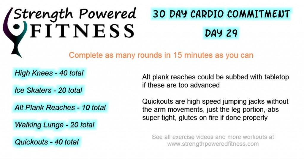 30 day cardio commitment day 29
