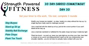 30 day cardio commitment day 30